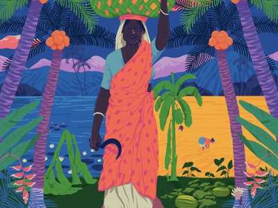 Faith in nature home people kerala nature sajid art illustration