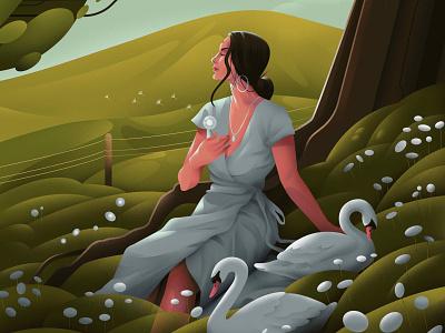 My soul is made of meadow flowers procreate inspiration creativeblock design art illustration sajid