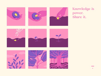 Knowledge is power, Share it. illustration design india power knowledge playoff sajid