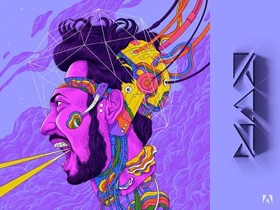 Adobe Max design art illustration selfportrait 2021 adobemax sajid adobe