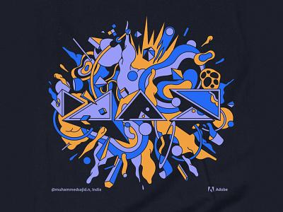 Adobe Max - Community illustration india art sajid design tshirt community adobemax