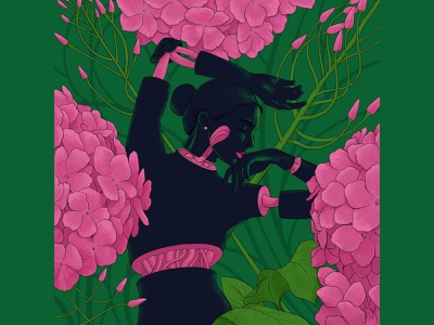 🌸 experiments sajid flower design art illustration