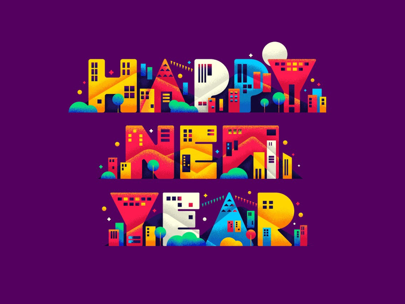 Happy New Year Illustration 77