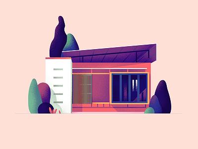 Home - 21 shape square series architecture illustration home