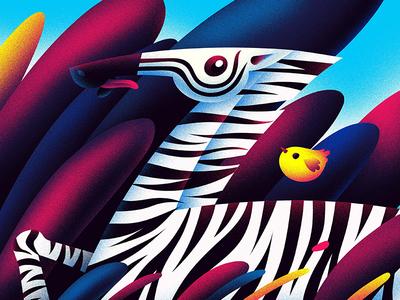 Z for Zebra hiwow illustration bird zebra z 36daystype