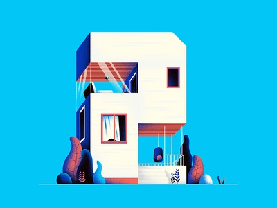 TWO 2 hiwow illustration house home 36daystype