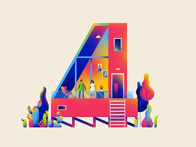 FOUR 4 hiwow illustration house home 36daystype
