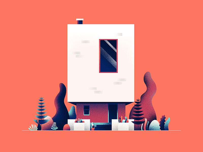 ZERO plants 0 hiwow illustration architecture home 36daystype