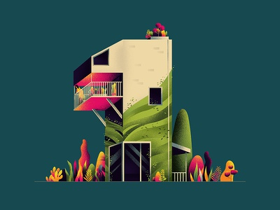 ONE car number 1 hiwow illustration architecture home 36daystype