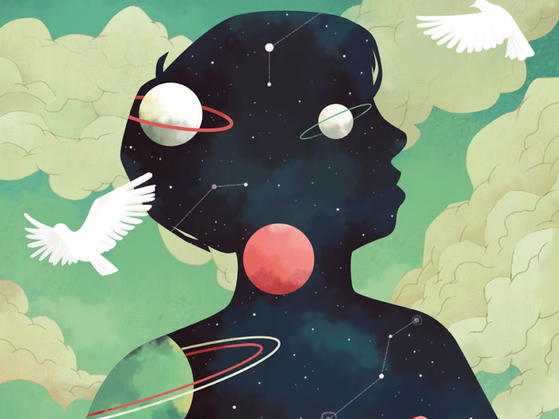 SKY birds day sky dream autism illustration