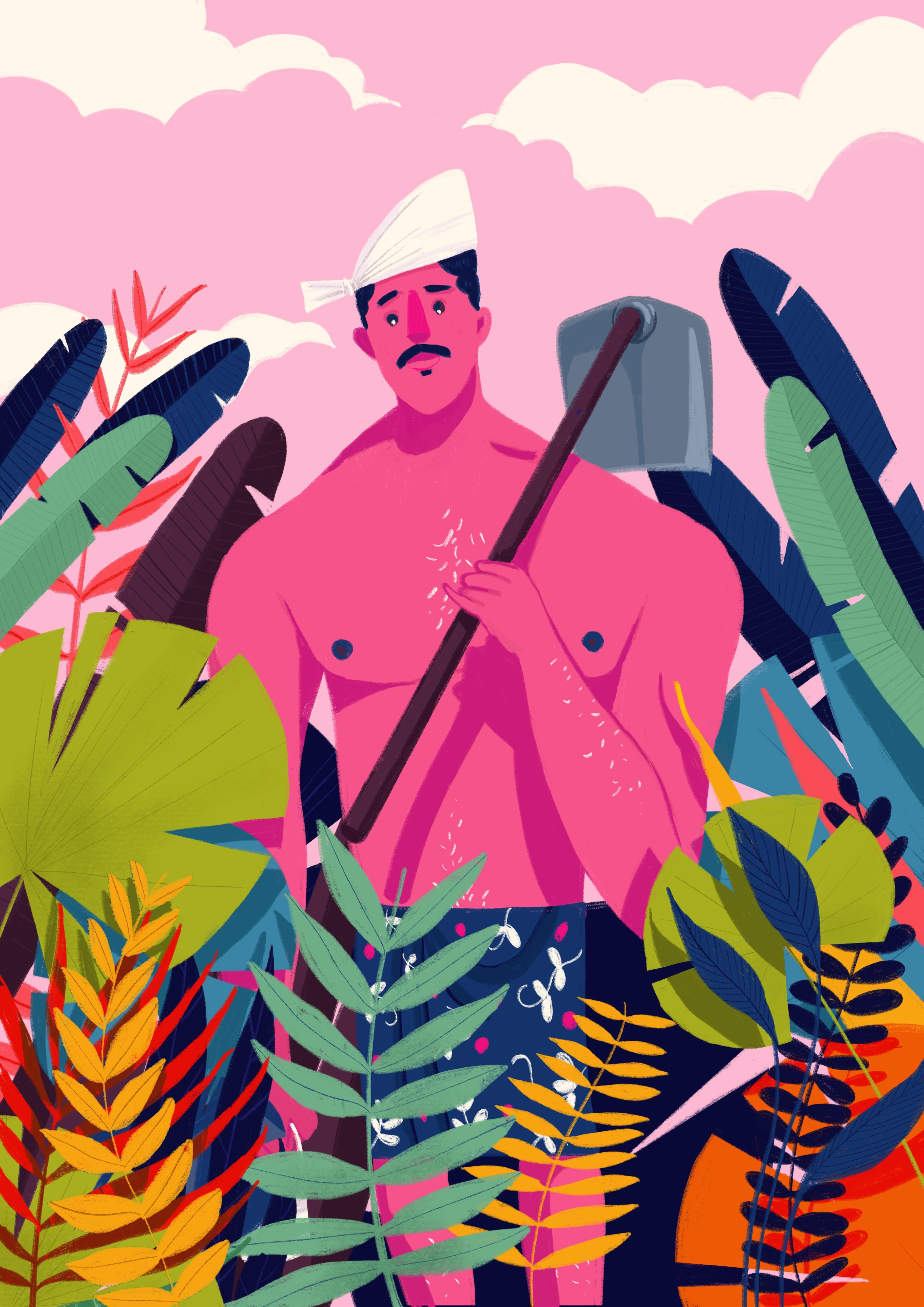 Chandrettan procreate plants pro ipad farmer kerala