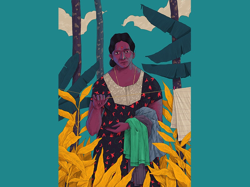 B I N D U nature plants hiwow woman kerala illustration