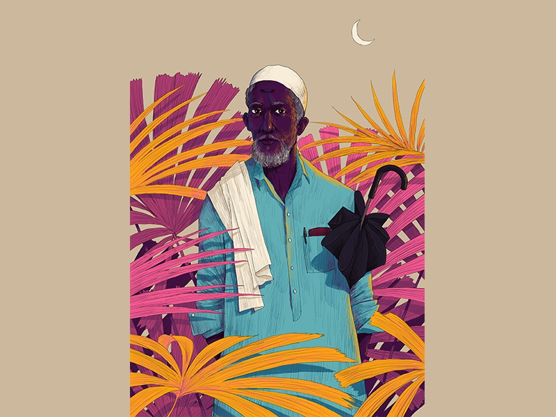 M O O S A peace muslim man folks hiwow kerala pro ipad illustration