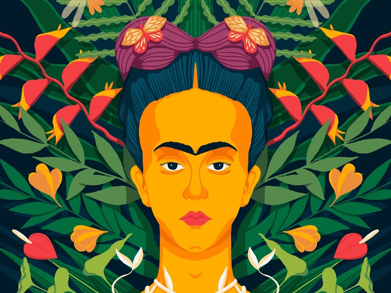 Frida Kahlo procreate ipad art fridakahlo illustration