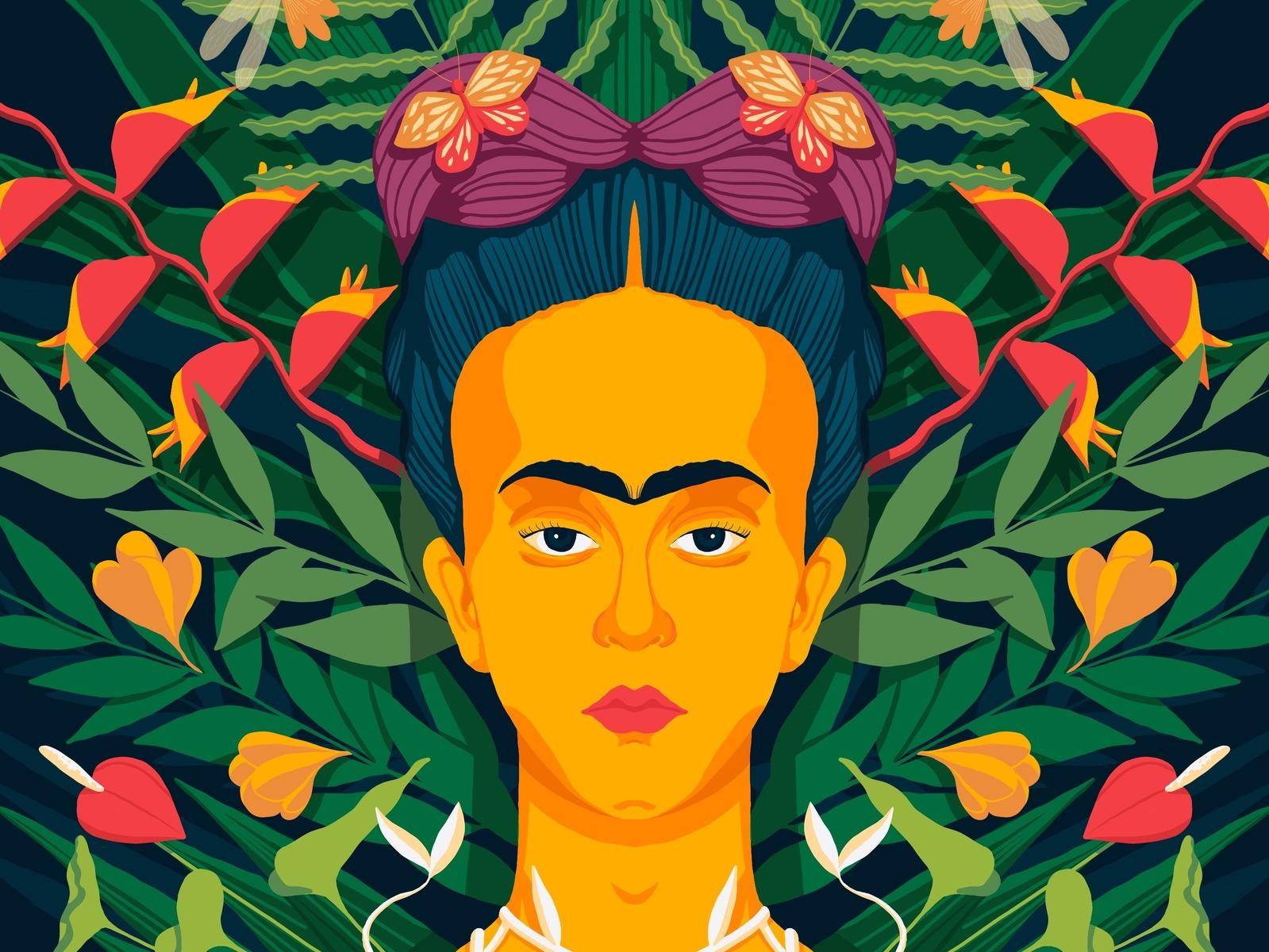 Frida Kahlo procreate ipad art fridakahlo illustration