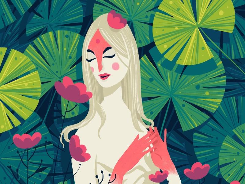 The Queen queen flower design garden plants hiwow illustration