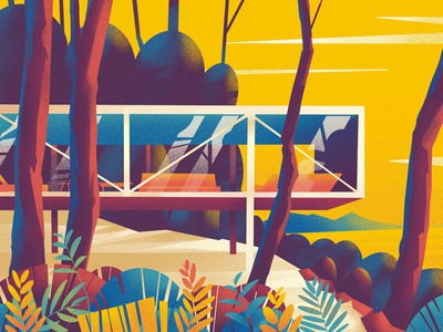 Home - 30 design house plants series architecture home hiwow illustration