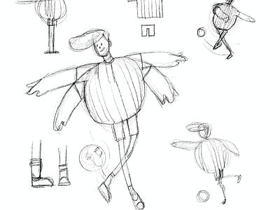 Skills character design character animation 3d skills football guy animation illustration