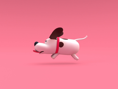 Dog - run cycle🐕 love design character animation 3d runcycle dog animation illustration