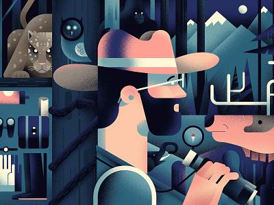 Hunter 🏹 webstie design art forest animals hunter hiwow illustration