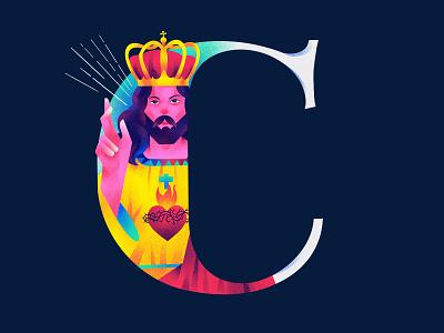 C H R I S T love christ art typography 36days 36daysoftype-c illustration