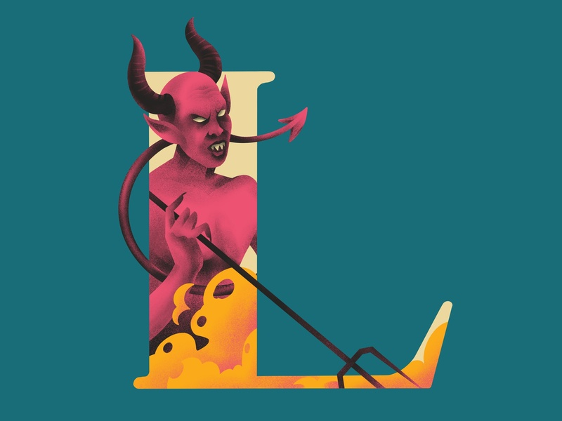 L U C I F E R 36daysoftype lucifer illustration