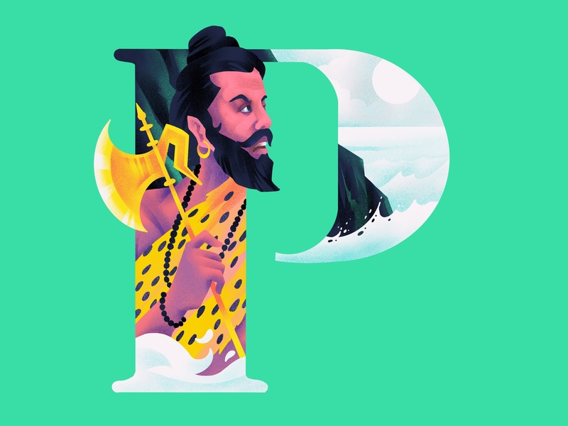 P A R A S H U R A M A parashurama design typography p 36daysoftype illustration