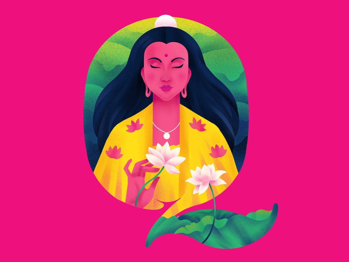 Q U A N   Y I N goddess lotus q 36daysoftype typography illustration