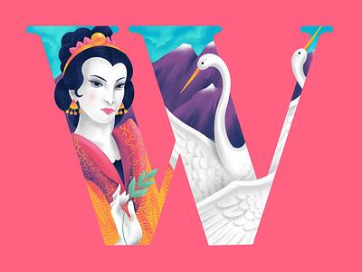 W A N G M U   N I A N G art typography 36daysoftype w wangmu illustration