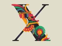 X O L O T L 36daysoftype x illustration xolotl