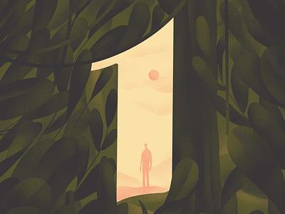 O N E - A L O N E dark alone 36daysoftype one hiwow illustration
