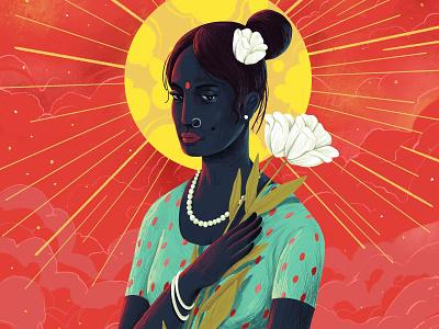 Angel 👼 woman indian angel art design hiwow illustration