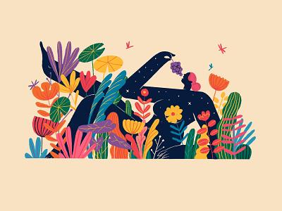 Madaalasa woman madaalasa garden plants art design illustration