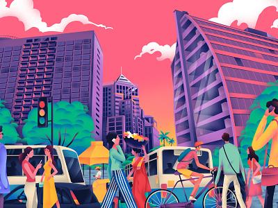 Culture Trip - Bangalore website culture trip bangalore art design illustration