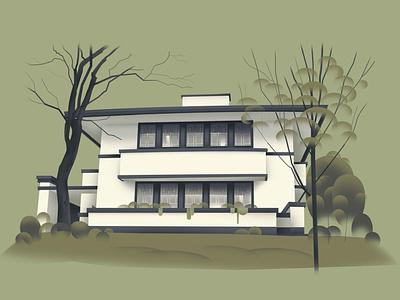 Kentucky – Reverend Jesse R. Zeigler House (1910) house series architecture home design art illustration