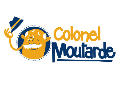 logo colonel moutarde illustration branding