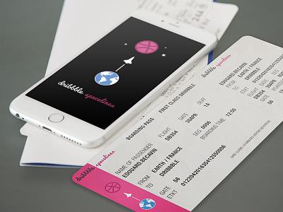 Hello Dribbble pink earth iphone dribbble world hello design edouard becavin