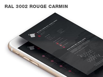 Red Carmine design red color innovation flat minimal navigation mobile menu iphone app
