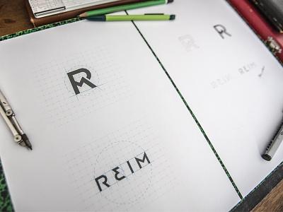 Reim Logotype and mark work color becavin edouard visual branding pencil design logo