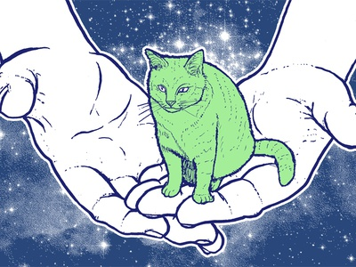 Tiny Space Cats Prints are now on sale!