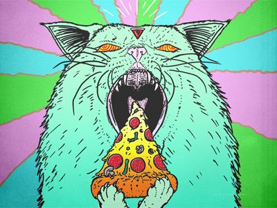 Supreme Pizza Cat Gif