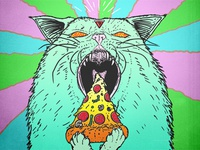 Supreme Pizza Cat Gif