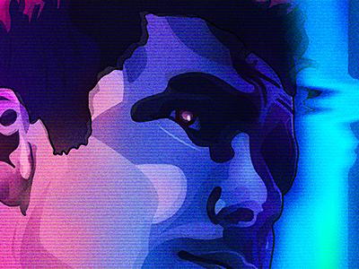 Runner portrait art vector series