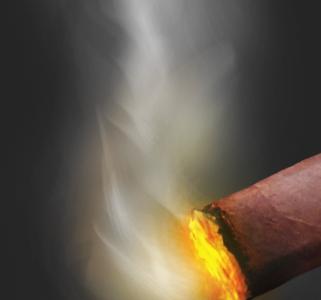 Cigar cigar brown red orange yellow smoke
