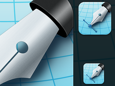 Inkpad Icons appstore icon ios app app icon inkpad apple ipad ipad 2 blue pen vector