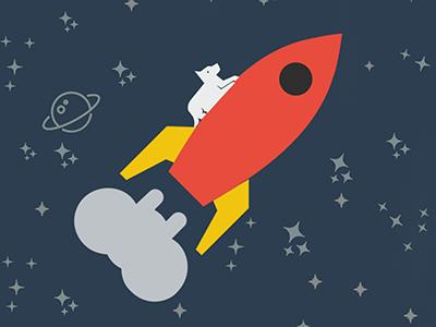 Sputnik 2 icons dog spacecraft rocket