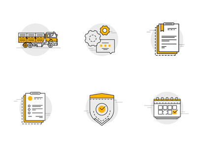 Grain Delivery icons for web