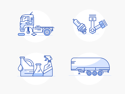 Truck service web icons