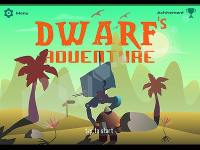 Dwarf's Adventure futuristic game nature star planet adventure galaxy fantasy vector illustration