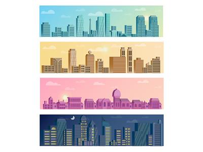 Different Faces of Jakarta landscape home city jakarta atmospheric illustration flat building